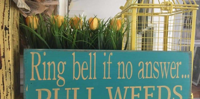 Make a garden sign at Bloomin' Garden Show
