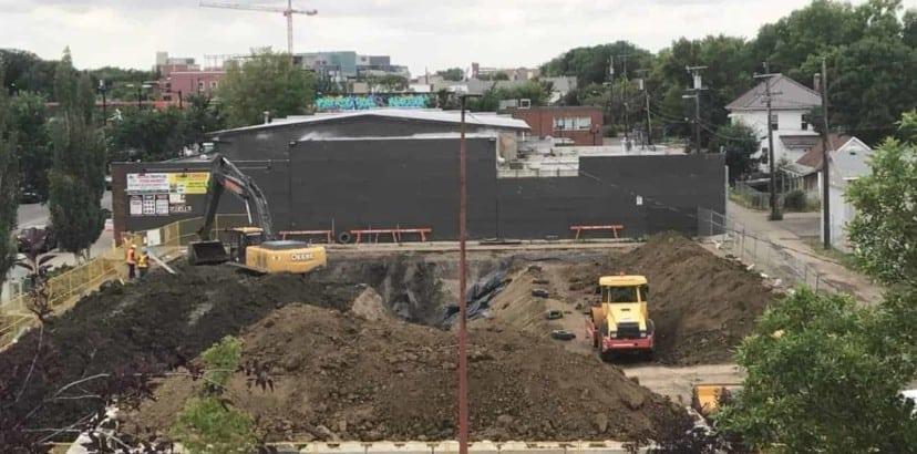 Soil remediation in league parking lot