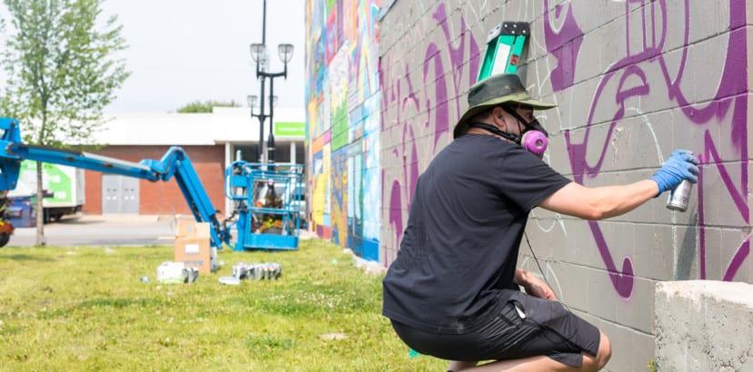 Turning city walls into fantastic murals