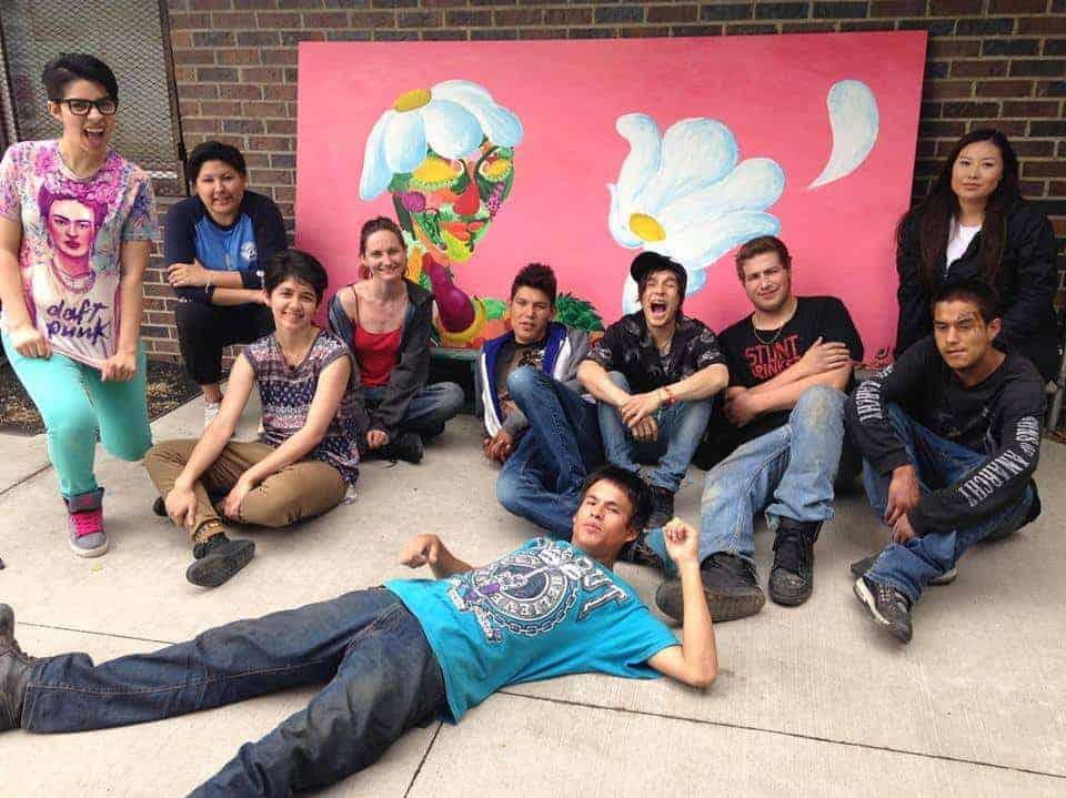 CreArt spearheaded the creation of the mural set along Kinnaird Ravine. | Supplied