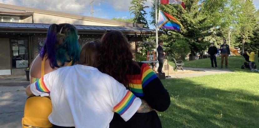 Raising the Pride flag for June